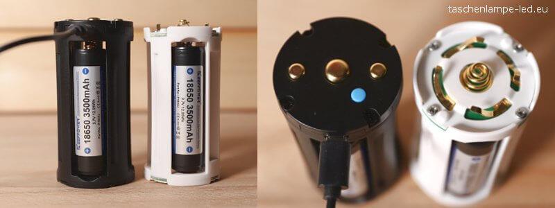fenix tk75 batteriehalter vergleich