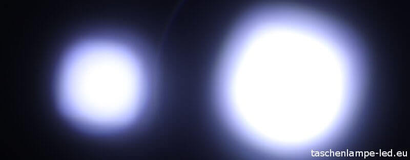 ledlenser t7m t7.2 lichtkegel vergleich