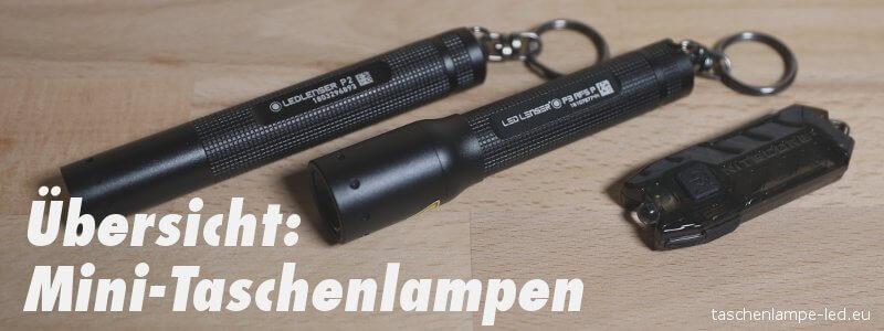 Übersicht: Mini Taschenlampen