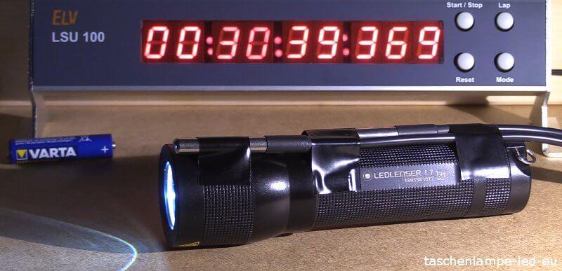 LED Lenser L7 laufzeittest