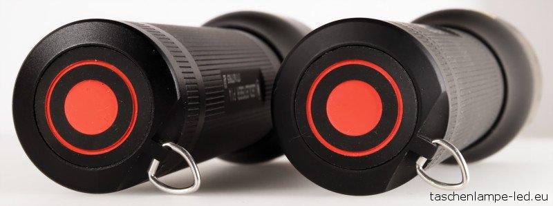 LED Lenser P14 Schalter Heckansicht