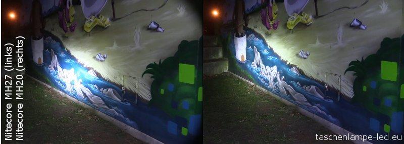 Vergleich: Licht Nitecore MH27 und MH20