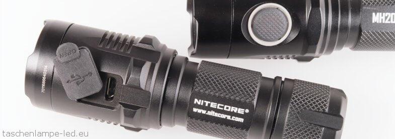 nitecore mh20 mh20GT usb anschluss