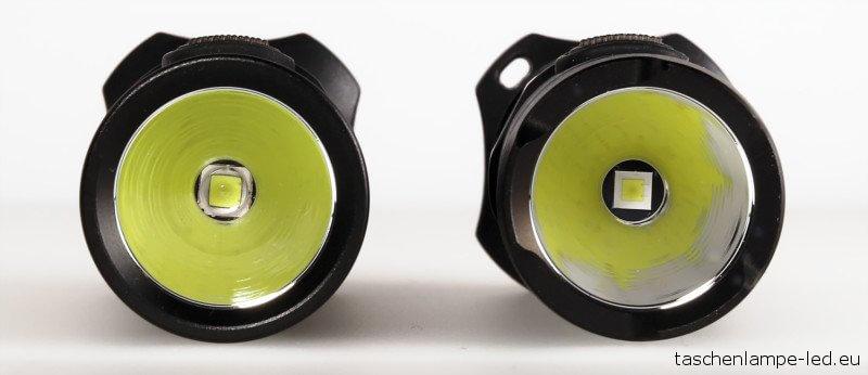 Nitecore P12 und P12GT: Frontansicht