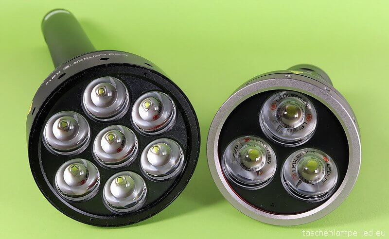 Vergleich LED Lenser MT18 X21