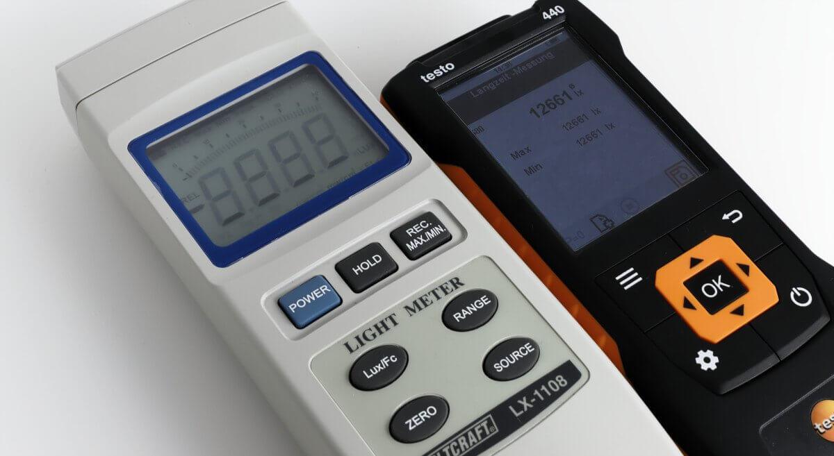 luxmeter testo-440 voltkraft LX-1108