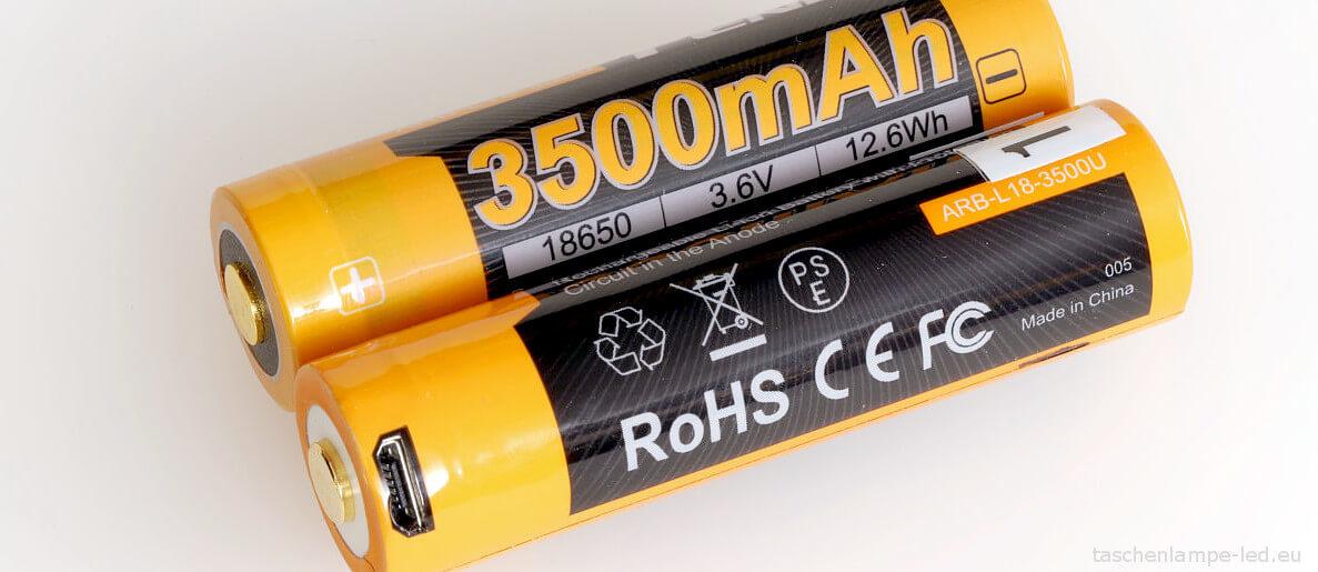 Vergleich: Fenix ARB-L18-3500 und Fenix ARB-L18-3500