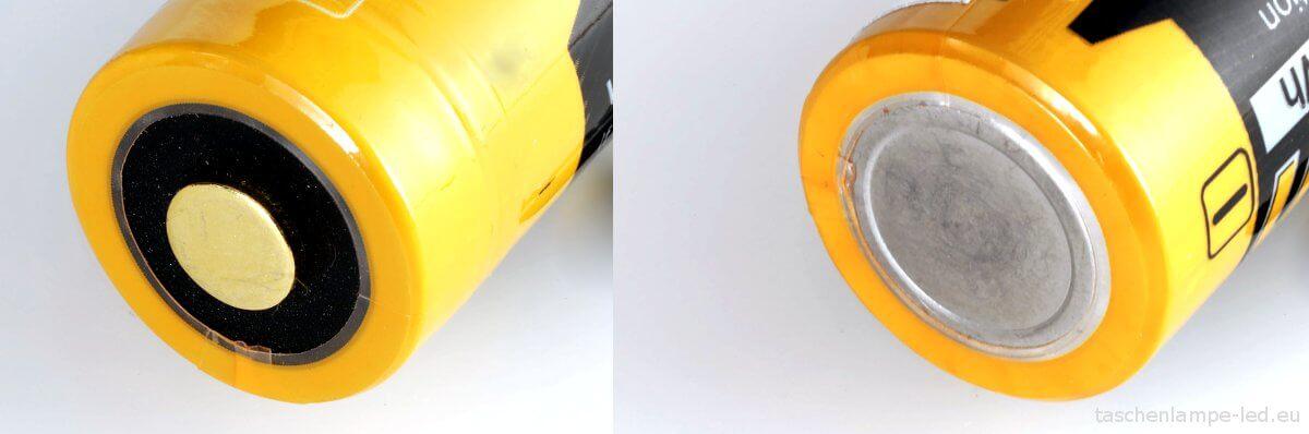 Akku-18650-Test-Fenix ARB-L2-2600-pole